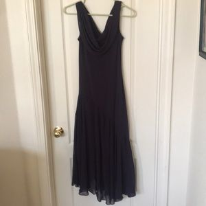 Dark plum bridesmaid dress